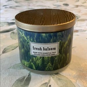 Bath and Body Works Fresh Balsam 3 Wick Candle.